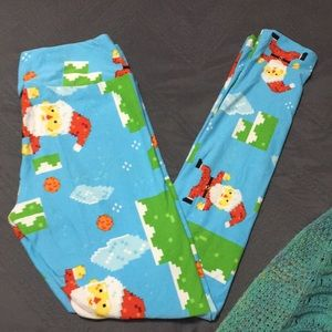 Minecraft Santa Leggings